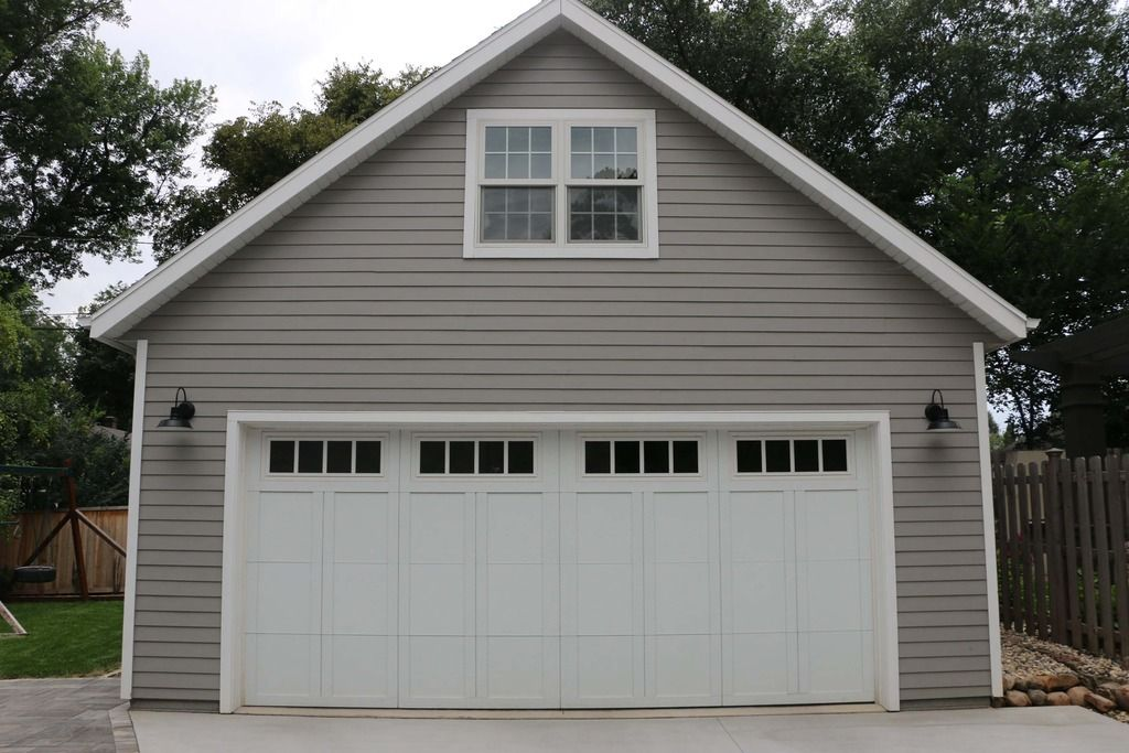 New 24 x34 detached garage with attic trusses the for Garage plans with lift