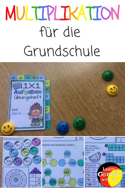 Learn German with fun: Multiplikation Übungen für die Ferien und für ...