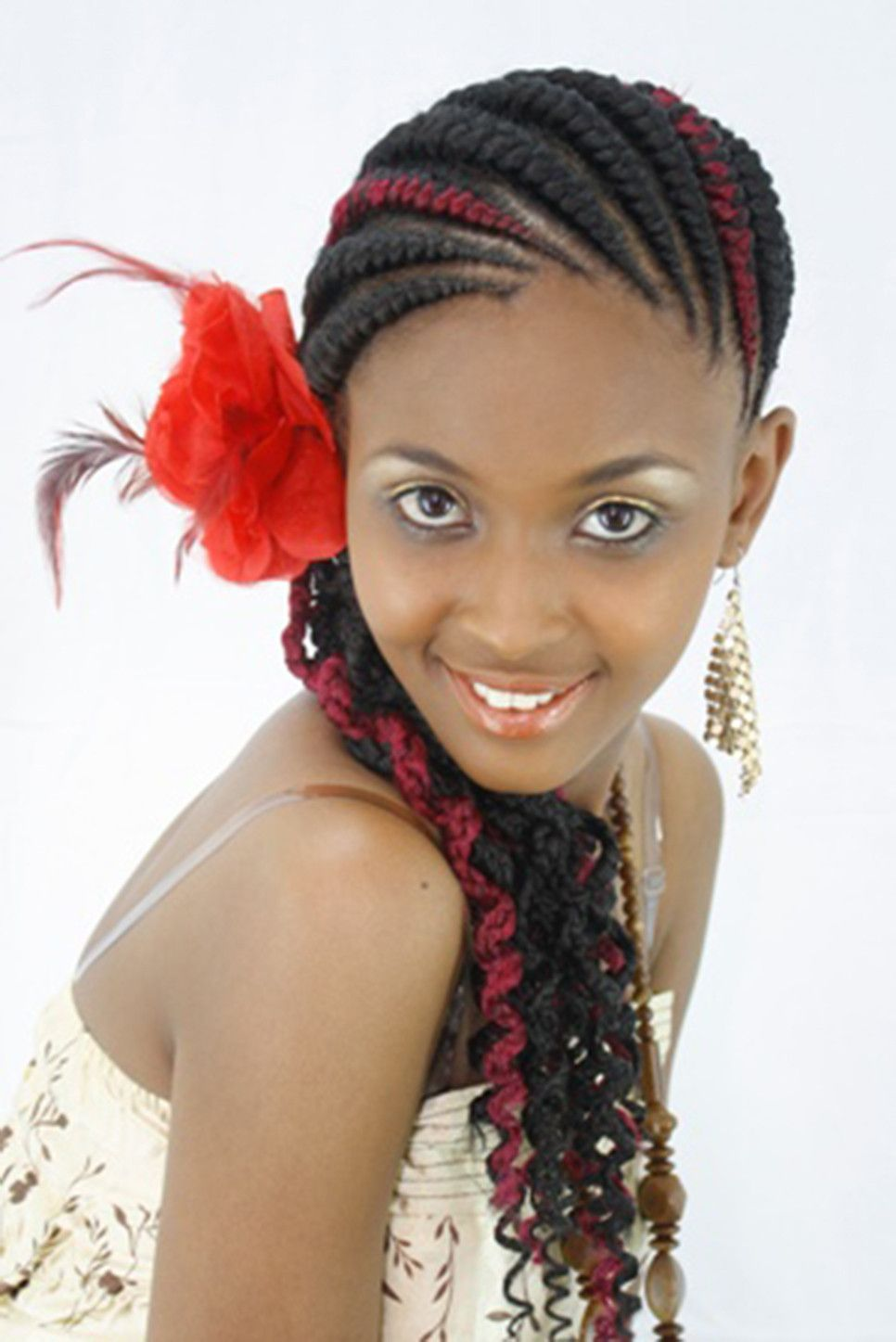 abuja lines Pretty braided hairstyles, Ghana braids