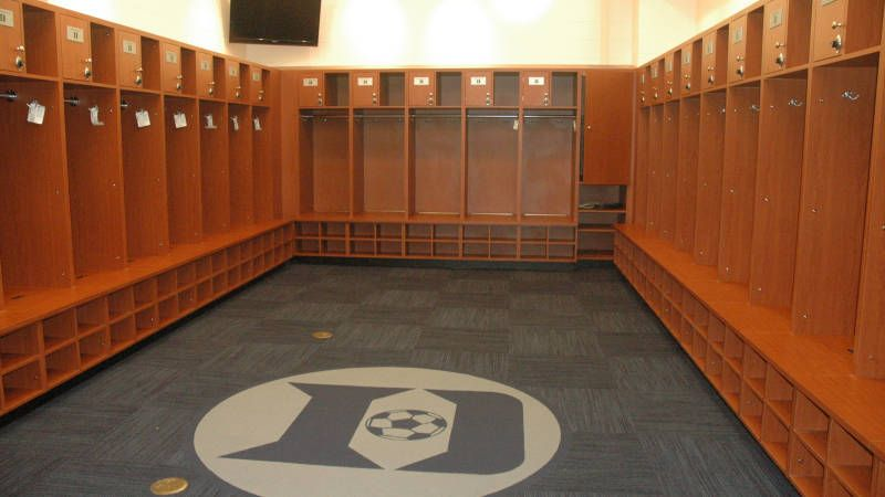 Women S Soccer Locker Room Renovation Update Locker Room Room Renovation Soccer Locker