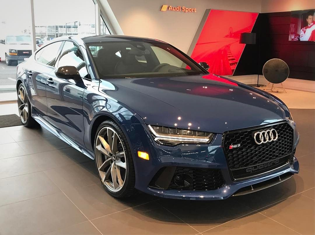 2017 audi rs7 performance in ascari blue metallic available today at audi columbus byers. Black Bedroom Furniture Sets. Home Design Ideas