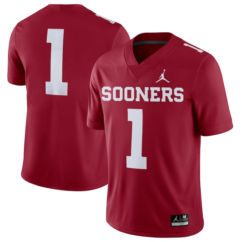 separation shoes 392b7 f5de1 Oklahoma Sooners Jordan Brand 2018 Game Football Jersey ...