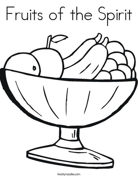 Fruits of the Spirit Coloring Page Preschool Bible Lessons