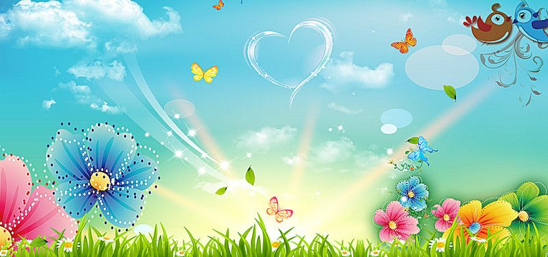 Cartoon Flowers Background Flower Backgrounds Butterfly Background Cartoon Flowers