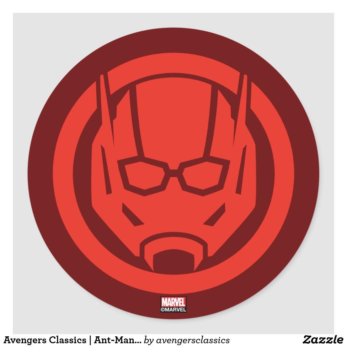 Avengers Classics Ant Man Icon Classic Round Sticker Zazzle Com In 2021 Avengers Ant Man Ants