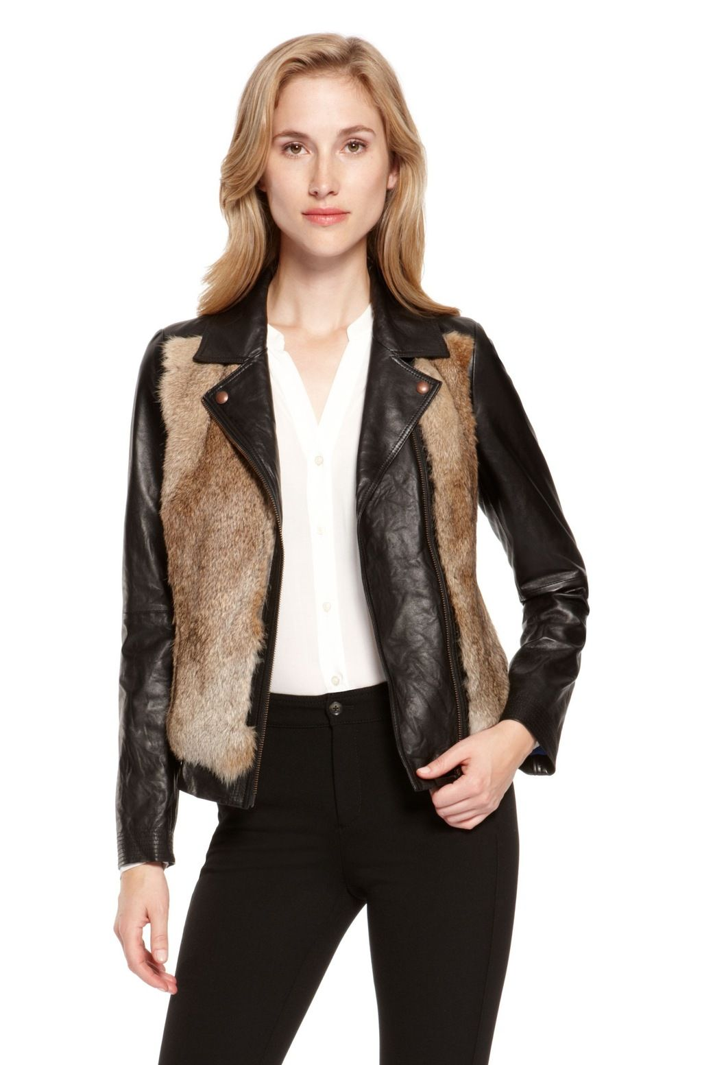 Hugo Boss 'Jaisa' Fur Leather Jacket. Clothing,