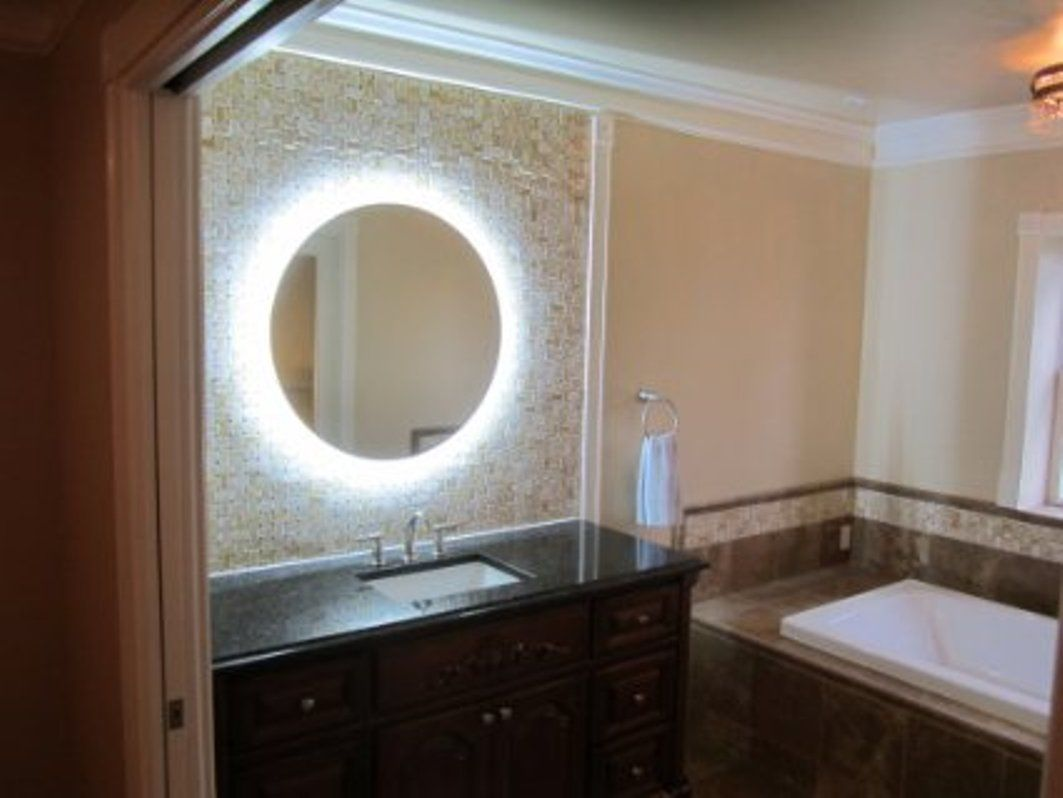 Bronze Lighted Makeup Mirror Wall Mounted Jpg 1 063 798 Pixels