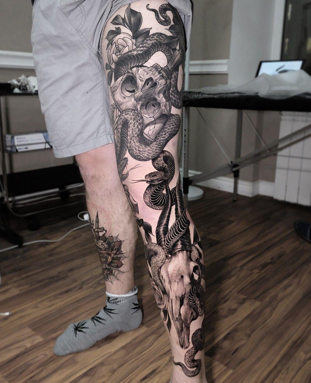 By Andrew Borisyuk Full Leg Tattoos Leg Sleeve Tattoo Leg Tattoo Men