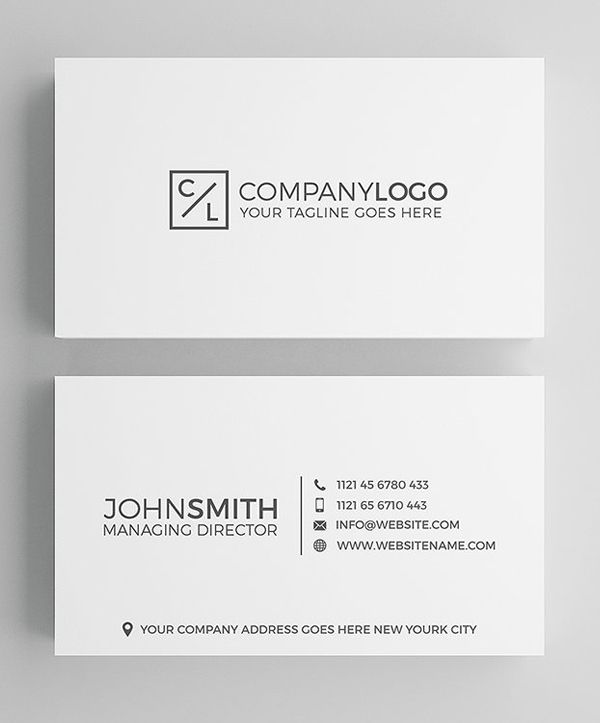 35 Minimal Modern Business Card Templates With Images Business