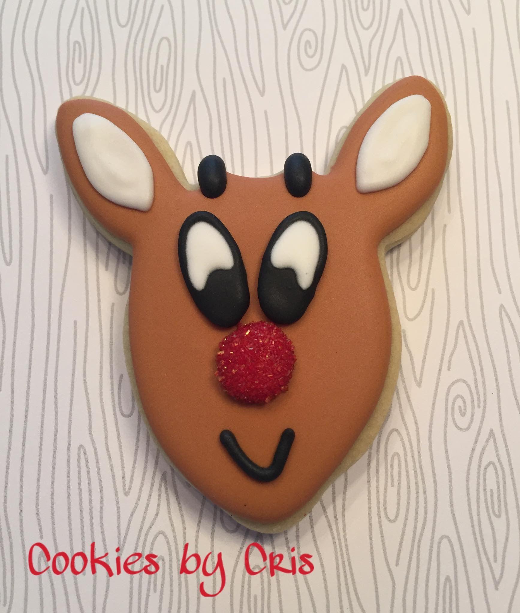 Rudolph The Red Nosed Reindeer Sugar Cookie Christmas Cookies