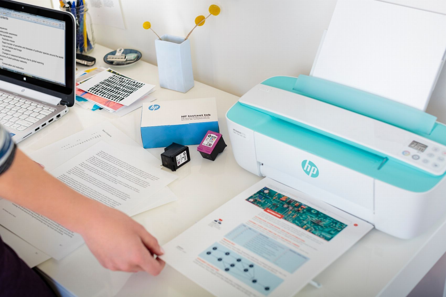 Impresora Hp Deskjet 3760 Impresora H P Color Cian