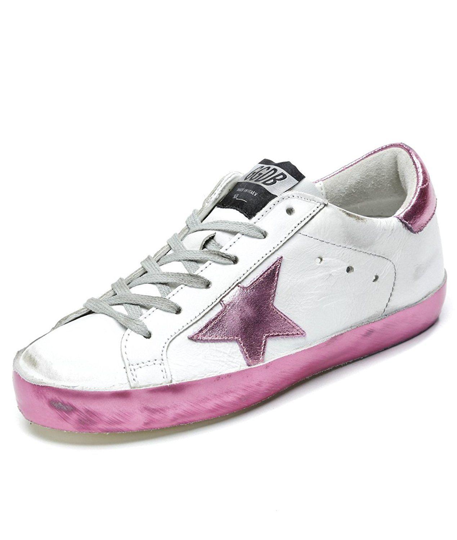 44124e80d7d0f Wiberlux Golden Goose Women's Vintage Superstar Low Top Sneakers 35 ...