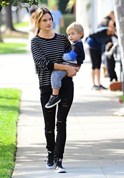 Alessandra Ambrosio Photos: Alessandra Ambrosio Takes Her Son to Lunch