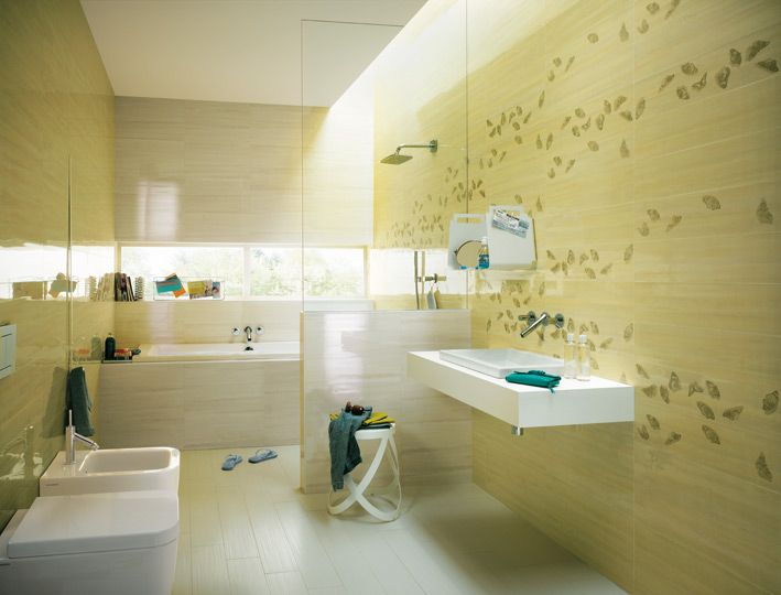 Small Bathroom Ideas Yellow Tile With Bathroom Yellow Cream White ...