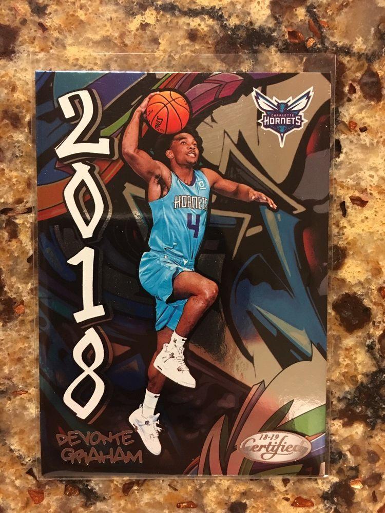 dabc1e917883 Devonte Graham - Kansas Jayhawks   Charlotte Hornets 2018-19 Certified RC   CharlotteHornets