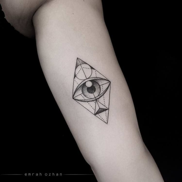 Geometric Eye Tattoo, Third Eye