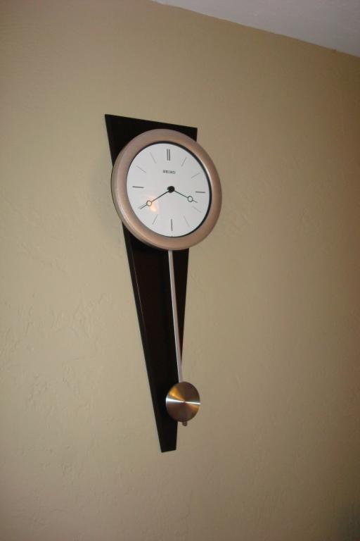 excellent wood clock | Seiko Contemporary Pendulum Wall