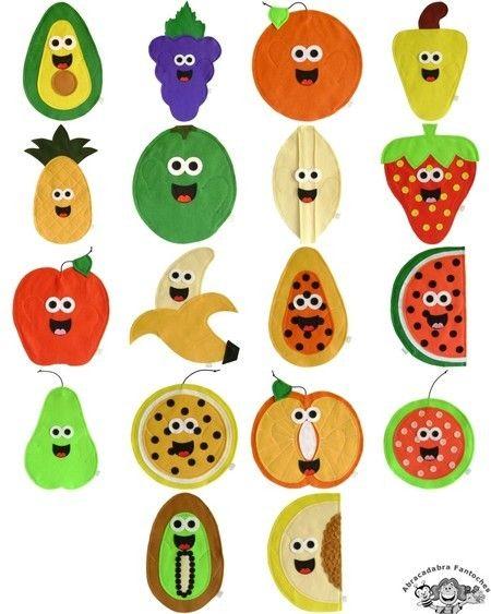 Fantoches Alimentos Frutas Fantoches Brinquedos De Feltro