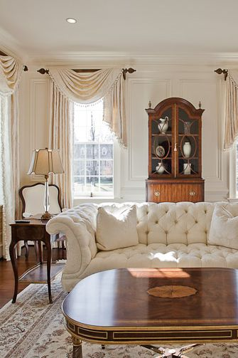 Traditional Living Room Window Treatments   provided by Sheffield     Laura O Meara Interior Designer Sheffield Furniture