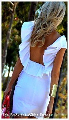 Backless Little White Dress  Summer Fashion Perfection
