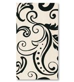Black and White Paper Hand Towels Filigree