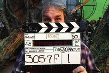 """"""" 'We made it': Peter Jackson finishes Hobbit shoot-Peter Jackson has finished shooting two Hobbit films back-to-back and is heading to the editing room with a December deadline looming.    Jackson has spent 266 days shooting two Hobbit films with a star-studded cast, and he took to Facebook to mark the last day today..."""""""