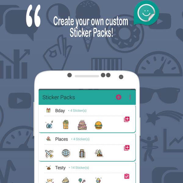 Wasticker Studio For Wastickerapps Is The Best Sticker Maker App To Create Personalized Whatsapp Stickers E Sticker Maker Custom Stickers Sticker Collection