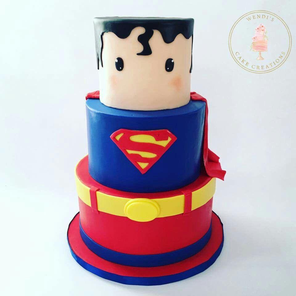 Superman Cake Ideas Pinterest