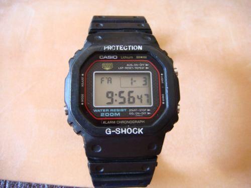 1c2565c8436 Casio G Shock 200m Dw 5000 Relogio Antigo Raro! - R  400