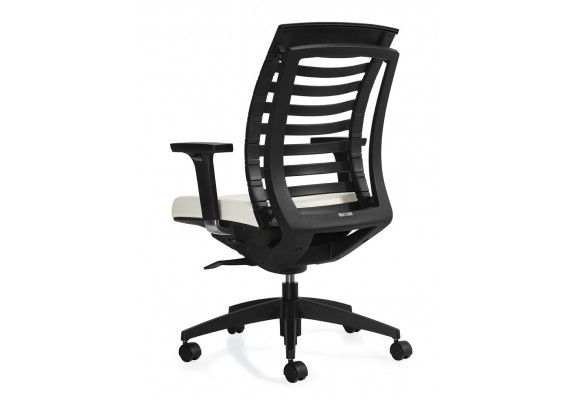 High Tech Office Chair Created To Give Reinforced Back Support And Allow  The Spine To Move And Flex In A Healthy Way.