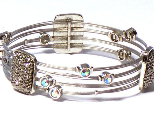 Charmed Whisper Bracelet Hot seller. Thin wire with large square ...