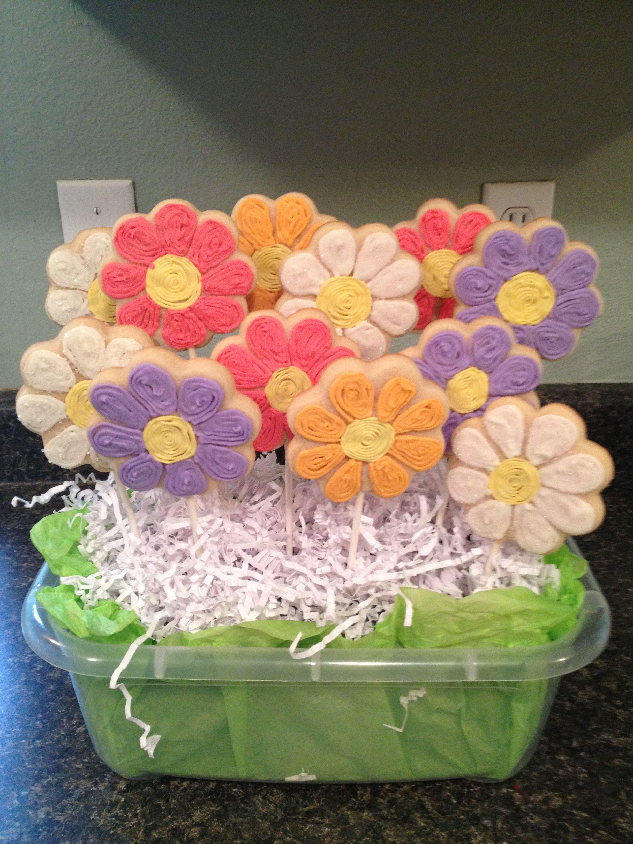 Flower Cookie Bouquet by CookiesbyMeesa | COOKIES! | Pinterest ...