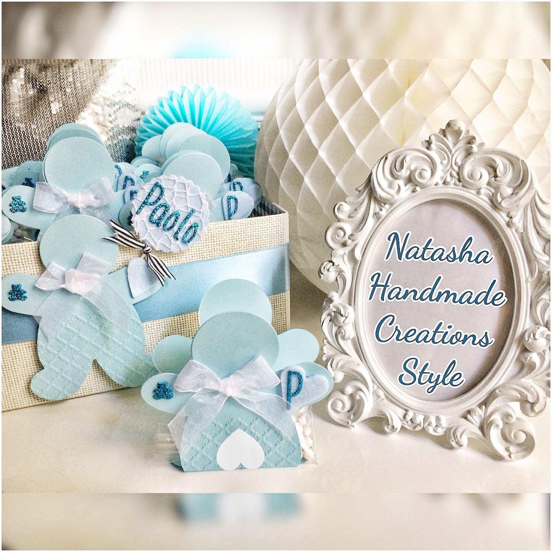 Scatolina BabyBoy Fiocco Portaconfetti