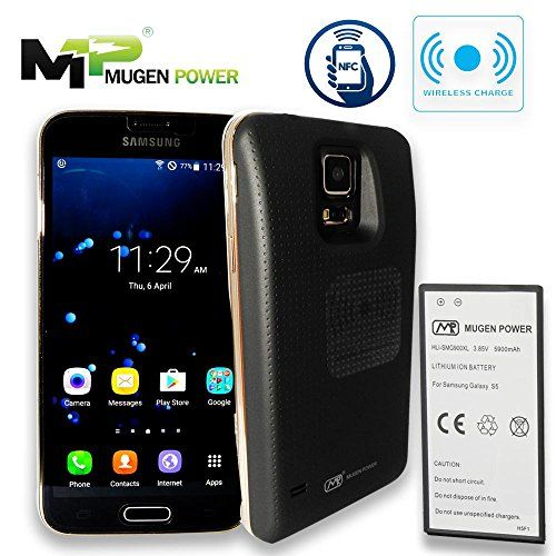 Mugen Power Samsung Galaxy S5 5900mah Extended Battery With Black Back Cover Support Nfc Wireless Charging 12 Samsung Galaxy S5 Pinterest Favorite Hot Items