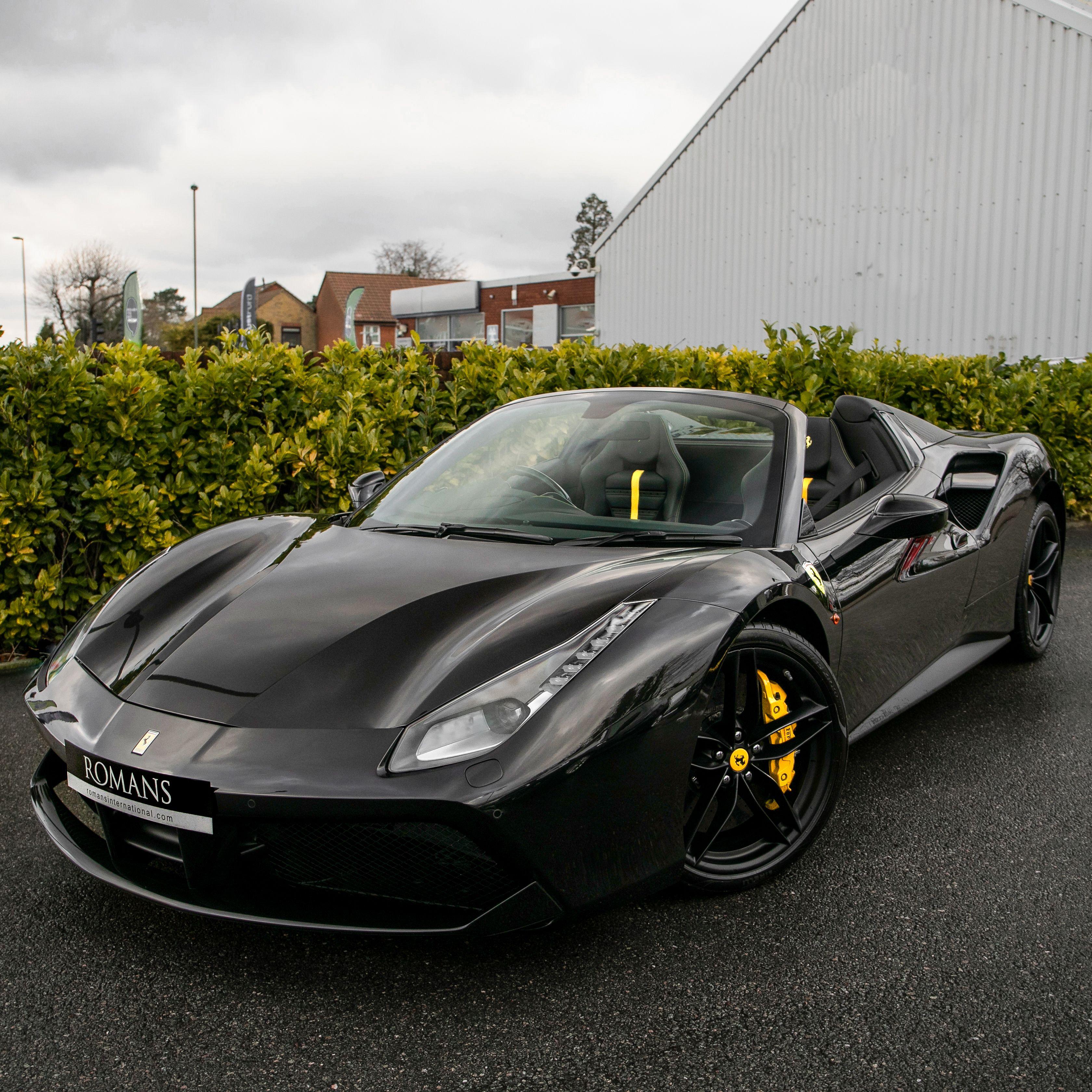 Ferrari Supercar: The Black Stallion Has Arrived! #Ferrari #488Spider