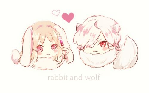 Diabolik Lovers - Chibi Kitty Yui and Subaru. Cute! | via Tumblr
