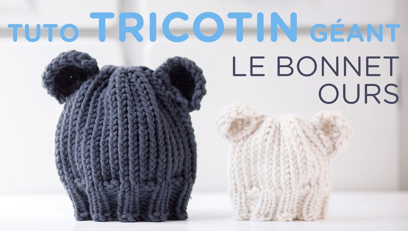 Tuto tricotin : le bonnet ours … | Pinteres…