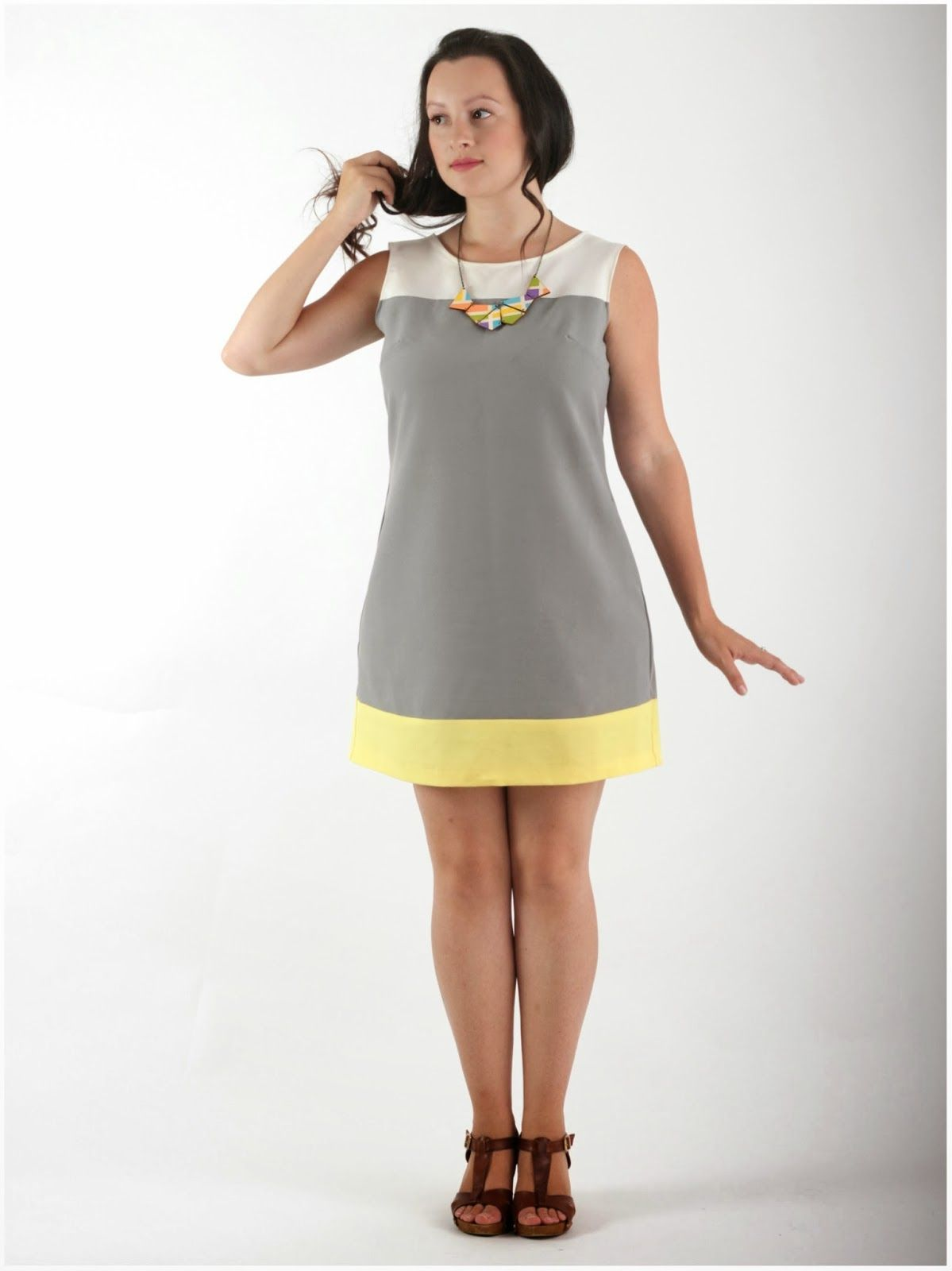 Julia Bobbin - Colour blocked Laurel by Colette Patterns #sewing ...
