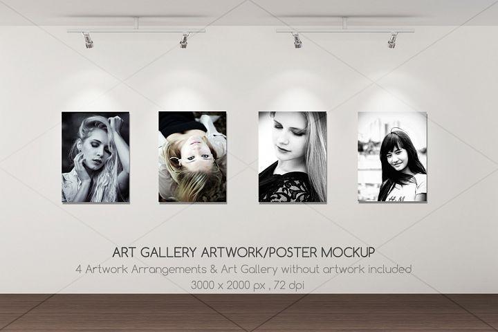 Art Gallery Artwork Poster Mockup 11254 Mockups Design Bundles Poster Mockup Psd Poster Mockup Design Mockup Free