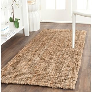 knobby Safavieh Hand-woven Weaves Natural-colored Fine Jute Sisal-style Rug  (