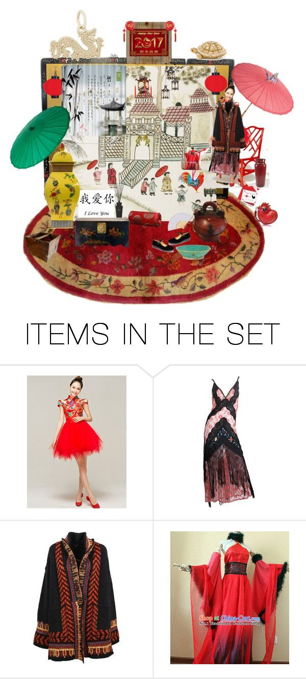 HAPPY CHINESE NEW YEAR OF THE ROOSTER 2017 by augustana on Polyvore featuring art