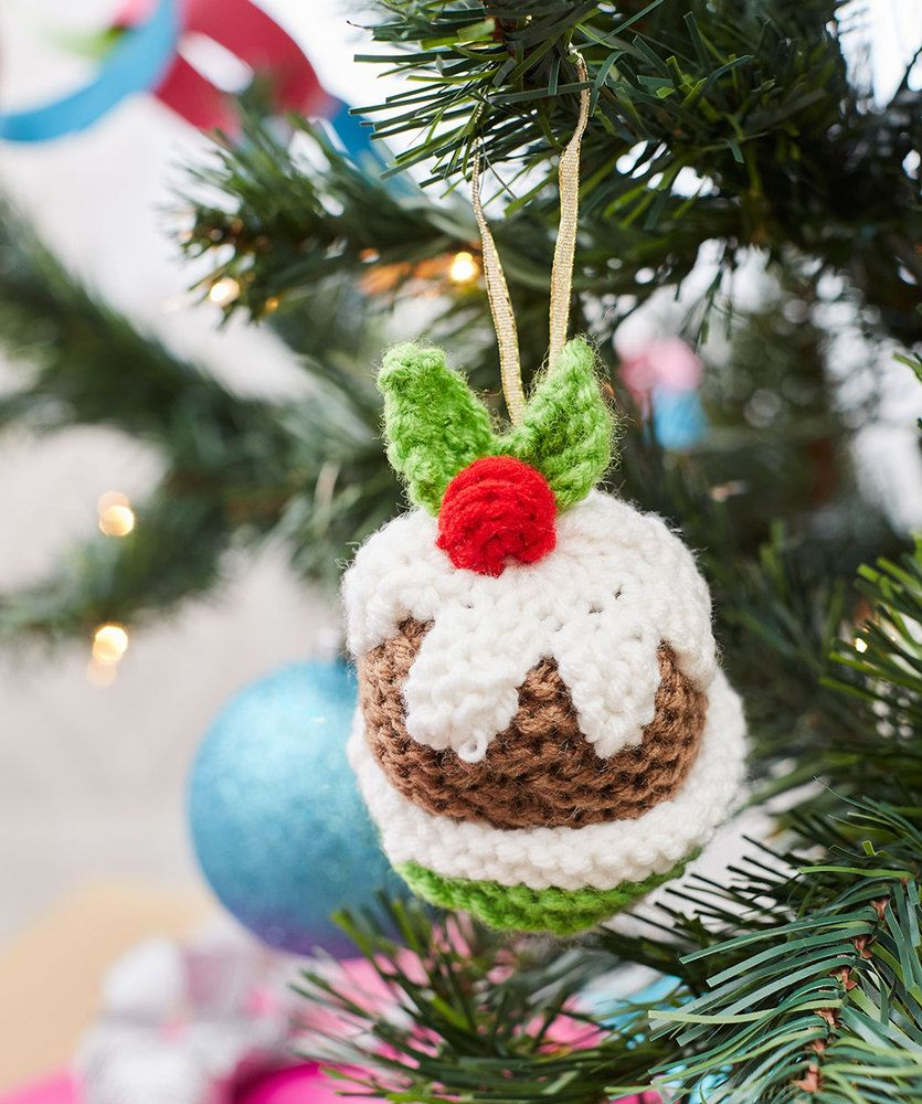 Christmas Pudding Ornament Free Christmas Knitting Pattern ...