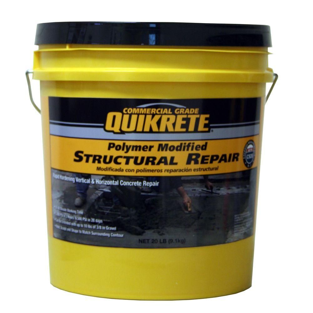 Quikrete 20 Lb Polymer Modified Structural Concrete Repair 124125 The Home Depot In 2020 Concrete Repair Products Concrete Floor Repair Repair