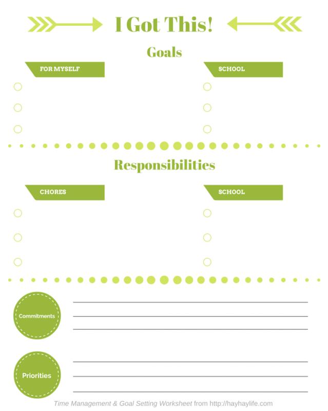 Teaching Kids Time Management Printable Worksheet Printables