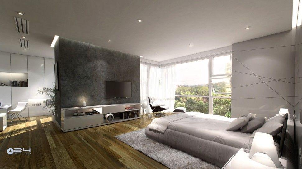 Interiorlarge contemporary interior design concept for small house modern master bedroom lighting decor nightstand