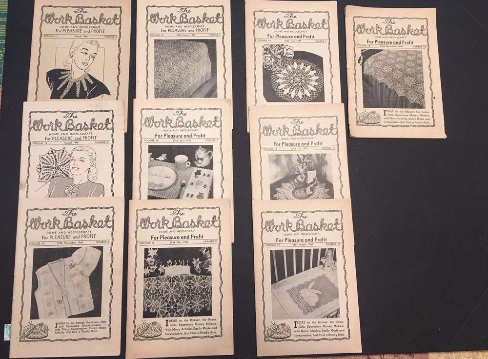 Workbasket Magazine 70 Issues 1948 1963 Vintage Crochet Knitting Tat