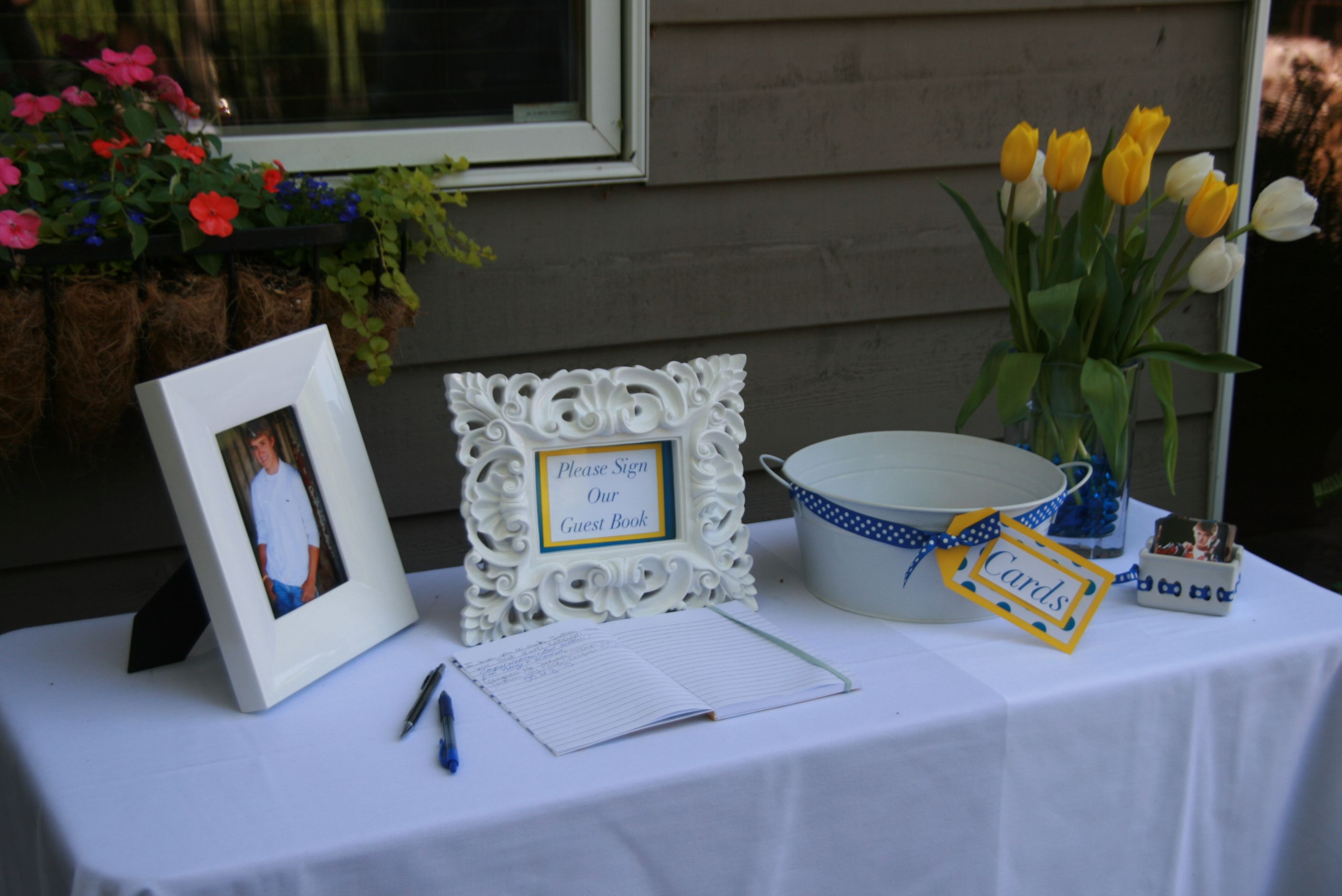 Graduation Table Ideas high school graduation table decorations graduation party ideas photo gallery graduation party ideas Graduation Guest Book Table
