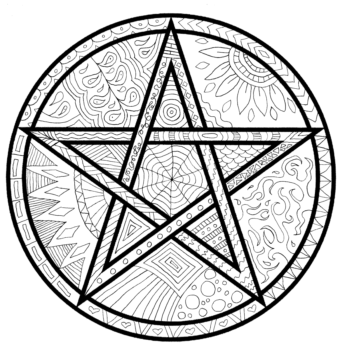 Detailed Pagan Coloring Pages For Adults Or Kids