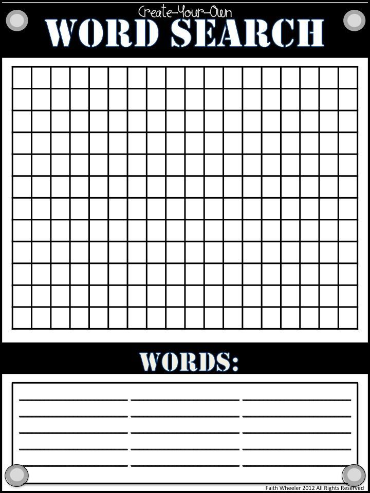 Make Your Own Word Search Puzzle  Word Search Puzzles Word