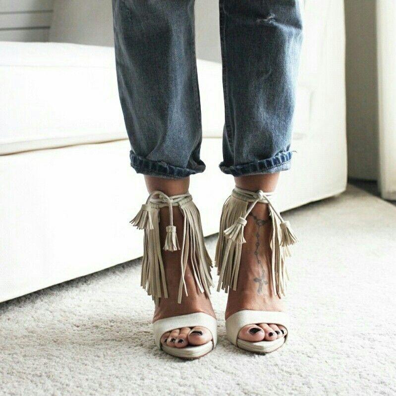561750d5c39 Zara fringed sandals